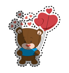 cute bear teddy icon vector image