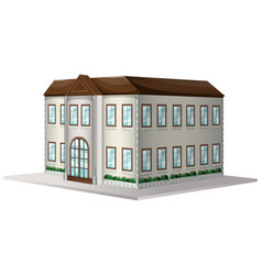 building with brown roof vector image