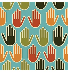 Diversity hands seamless pattern vector