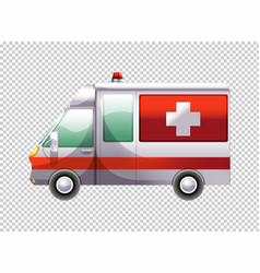 Ambulance van on transparent background vector