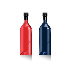 Wine bottles retro vector