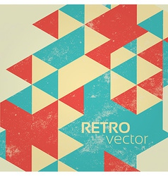 Colorful retro geometric background vector