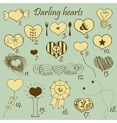 Darling hearts vector