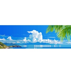 Panorama of tropical sea coast vector