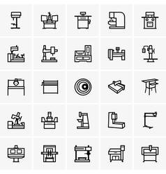 Machine tools vector image