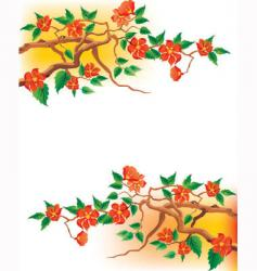 Japanese blossom vector image