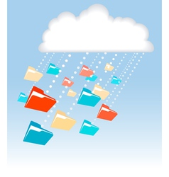 Digital cloud vector