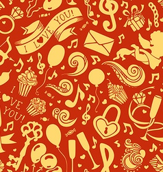 Seamless valentines pattern vector