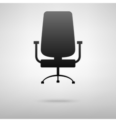 Office chair black icon vector