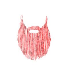 Hand drawn scribble beard isolated on white vector