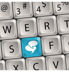 social media keyboard vector image