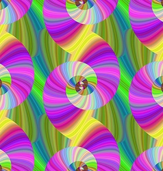 Multicolored spiral fractal pattern vector