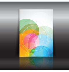 Abstract design flyer vector