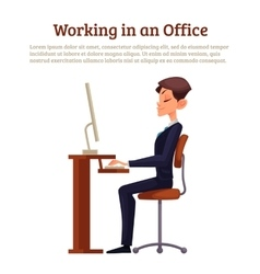 Image of an office worker vector