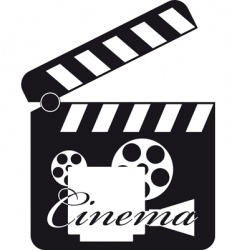 movie clapboard vector image