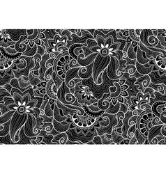 Decorative natural seamless pattern zen-tagle vector