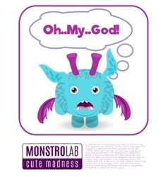 A monster saying omg vector