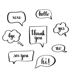 Calligraphy speech bubbles vector