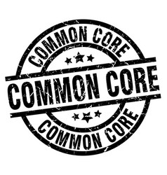 Common core round grunge black stamp vector