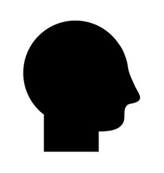 Contour man head and default profile vector