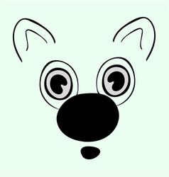 Cute animal head funny cartoo vector