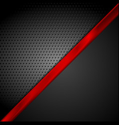Dark red black tech abstract background vector
