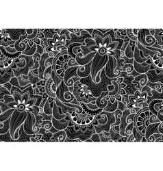 Decorative natural seamless pattern zen-tagle vector