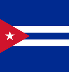 flag of cuba in national colors with a triangle vector image vector image
