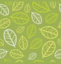 Green leaves seamless pattern springtime vector