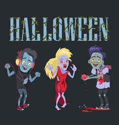 Halloween funny poster on vector