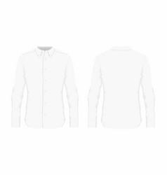 mens white dress shirt vector image