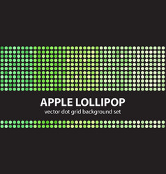 Polka dot pattern set apple lollipop seamless vector