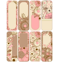 retro floral banners vector image