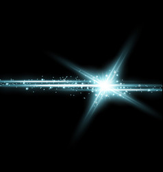 Shining star with a stardust aqua color vector