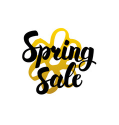 Spring sale handwritten lettering vector