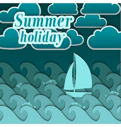 Summer paper background vector image