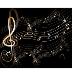vector abstract music background vector image