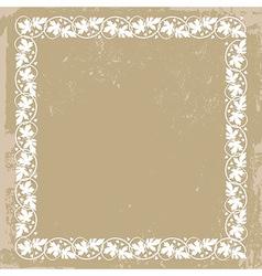 vintage floral plant frame vector image vector image