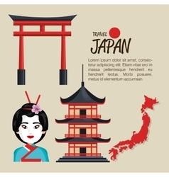 Welcome japan symbol traditional design vector