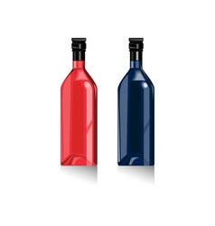 Wine Bottles Retro vector image vector image