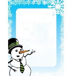 Snowman design vector