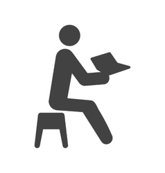 Man reading storybook vector