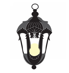 Vintage Rococo style lamp isolated vector image