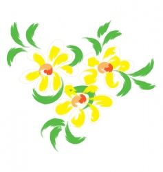 still life with yellow flowers vector image