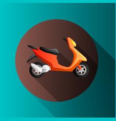 Flat design moto icons vector