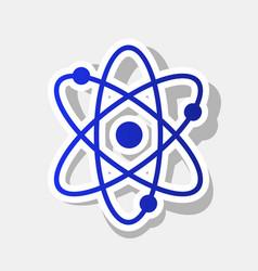 atom sign   new year bluish vector image