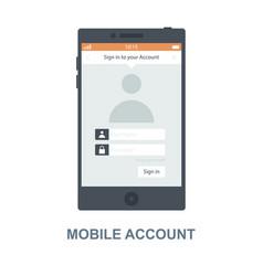 Mobile account concept design vector