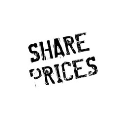 share prices rubber stamp vector image