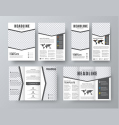 Set brochure flyer banner with an arrow and a vector