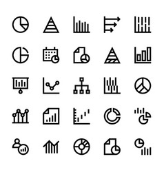 Business charts and diagrams line icons 1 vector